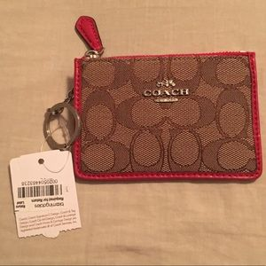 NWT Coach ID/Card holder with Key Chain